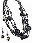 Black Beaded Fashion Jewelry
