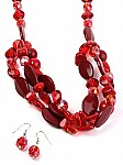 Chunky Red Beaded Jewelry