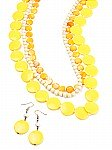 Wooden Fashion Jewelry in Yellow