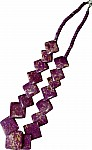 Wine berry  beaded necklace [1240]