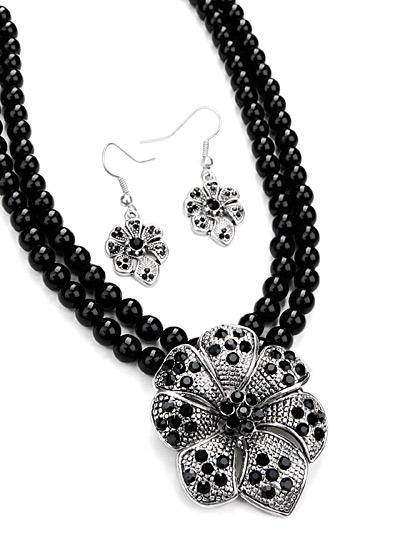 Black Fashion Jewelry, Black Beaded Jewelry