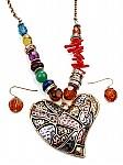 Gypsy Boho Pendant Jewelry Set