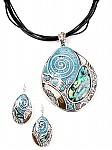 Blue Jewelry Silver Tone