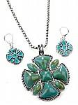Turquoise Jewelry Pendant Set