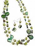 Fashion jewelry in green beads [1285]