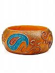 Paisley Painted Ethnic Bracelet