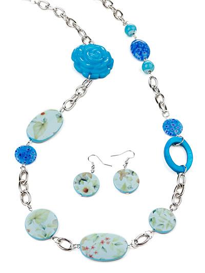 Turquoise  Fashion Jewelry, Turquoise Beaded Necklace