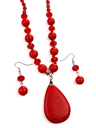 Red Fashion Jewelry, Red Beaded Jewelry