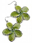Fashion Earrings in Green