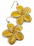Fashion Earrings in Yellow