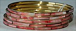 Pink Enamel Bangle Bracelet
