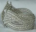 Silver Wired Cuff Bracelet