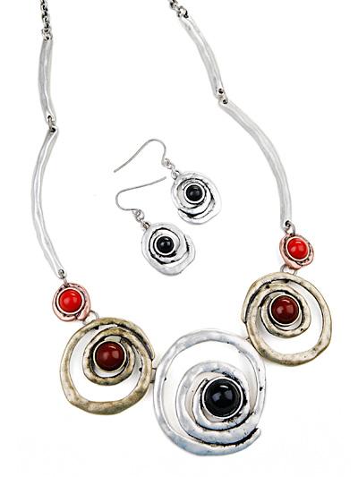 Circular hippie jewelry, Antique Fashion Costume Jewelry
