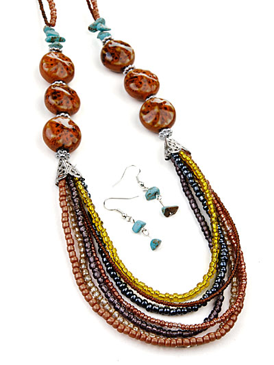 Multi Beaded Fashion Jewelry