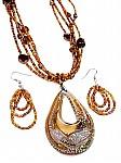 Brown Glass Fashion Jewelry
