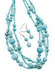 Blue bead jewelry [1474]