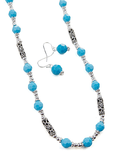 Silver Tone Turquoise Jewelry