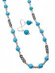 Turquoise beaded jewelry necklace [1479]