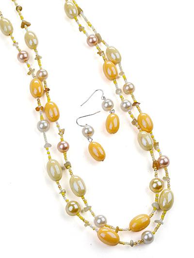 Yellow Fashion Jewelry, Yellow Jewelry Long Necklace