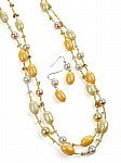 Yellow Jewelry Long Necklace