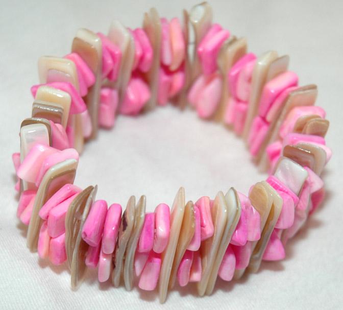 Colored  fashion bracelet, Fashion Jewelry Shell Bracelet