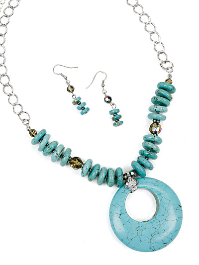Turquoise Fashion Jewelry, Turquoise Beaded Fashion Jewelry