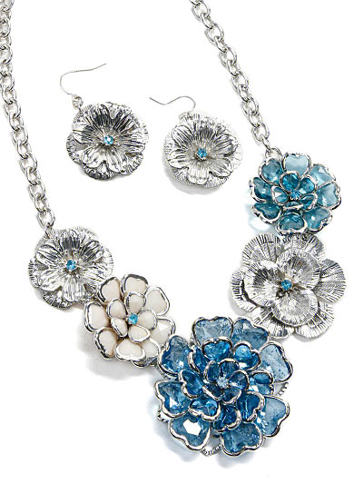 Blue and White Fashion Jewelry, Beautiful Chic Jewelry