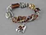 Amber Color Smoky Topaz Bracelet