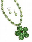 Lime Green Necklace Set [1733]