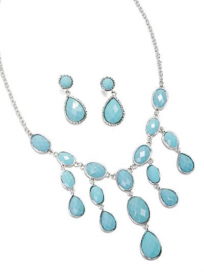 Elegant Turquoise Necklace, Turquoise Fashion Necklace
