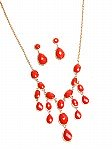 Coral Inlay Necklace Set