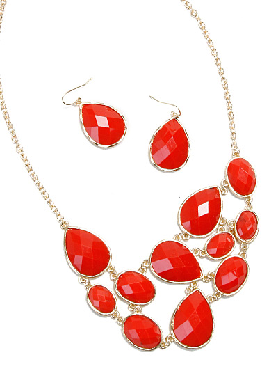 Beautiful Designer Jewelry, Fashion Necklace in Coral