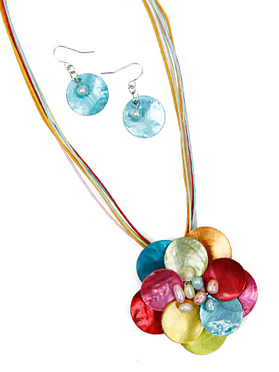Multicolor Flower Pendant, Fashion Summer Jewelry