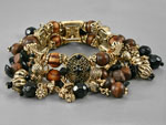Antiqued Gold Tone Bracelet