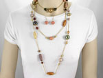 Long Multicolor Necklace Set