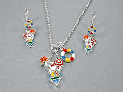 Bikini necklace set fashion jewelry, MultiColor Swimsuit Necklace Set