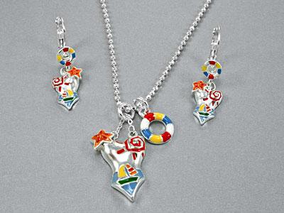 Bikini necklace set fashion jewelry, MultiColor Swimsuit Necklace Set