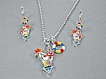 MultiColor Swimsuit Necklace Set