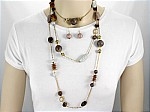 Long Necklace Set MultiColor Tone