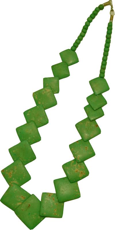 Green bone necklace, Olive Drab Bone Jewelry