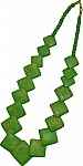 Green bone necklace [2550]