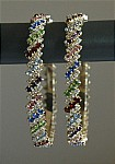 Shiny Multicolor Crystal and Rhinestone Bangle Bracelet