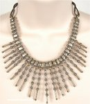 Pointed Studs Tribal Warrior Girl Necklace [4945]