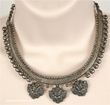 Temple Art Oxidized Romany Necklace