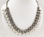 Silver Metallic Beads Bohemian Jewelry Necklace