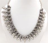 Silver Tone Black Rustic Look Traditional Jewelry