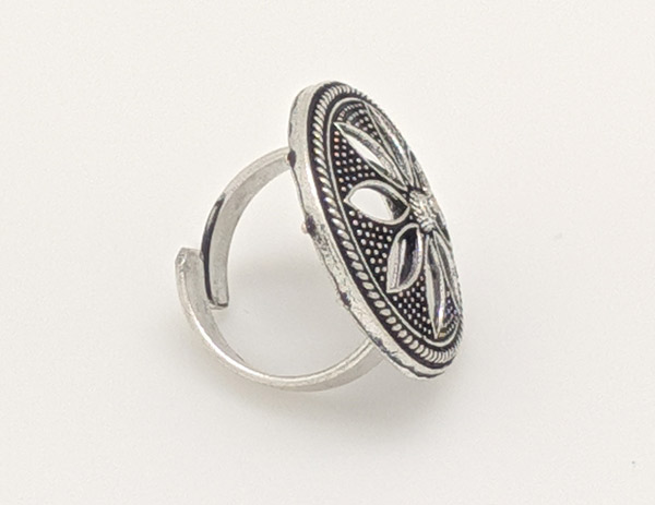 Afghani Tribal Lightweight Adjustable Finger Ring for Women
