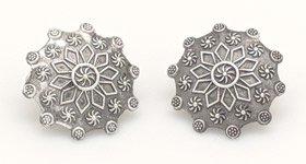 Astro Star Bohemian Earrings in Silver