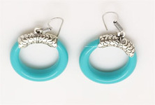Turquoise Blue Boho Fashion Earrings