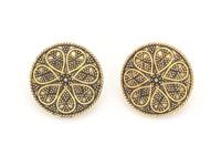 Astro Flower Golden Boho Earrings